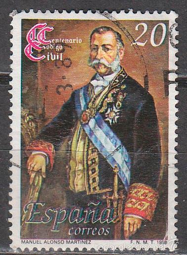 EDIFIL 2968, CENTENARIO DEL CODIGO CIVIL, USADO (Sellos - España - Juan Carlos I - Desde 1.986 a 1.999 - Usados)