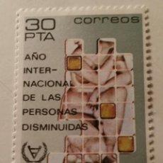 Sellos: 1981. AÑO INTERNACIONAL DE LAS PERSONAS DISMINUIDAS. EDIFIL 2612. NUEVO. Lote 56706814