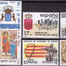 Sellos: EDIFIL 2735/42 ESTATUTOS DE AUTONOMIA-1984. Lote 56835951