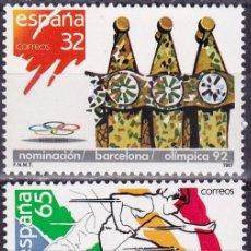 Sellos: EDIFIL 2908/09 NOMINACION BARCELONA SEDE OLIMPICA/92-1987. Lote 56855382