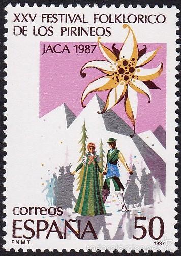EDIFIL 2910 XXV FESTIVAL FOLKLORICO DE LOS PIRINEOS-1987 (Sellos - España - Juan Carlos I - Desde 1.986 a 1.999 - Nuevos)