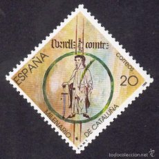 Sellos: EDIFIL 2960 MILENARIO DE CATALUÑA-1988. Lote 56862712