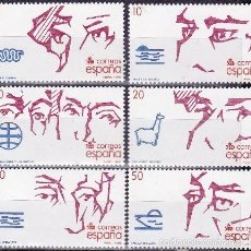 Sellos: EDIFIL 2969/74 V CENT.DESCUBRIMIENTO DE AMERICA-1988. Lote 56865204