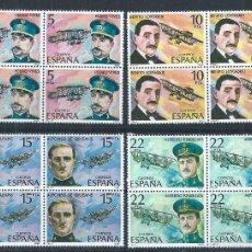 Sellos: R9.BLOCK01/ ESPAÑA EN NUEVO** 1980, EDF. 2595/98, PIONEROS DE LA AVIACION. Lote 133091622