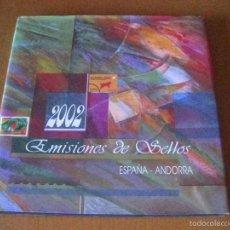 Sellos: ALBUM DE SELLOS DE CORREOS DEL AÑO 2002 CON TODOS LOS SELLOS DE ESPAÑA Y ANDORRA (COMPLETO). Lote 57105333
