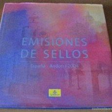 Sellos: ALBUM DE SELLOS DE CORREOS DEL AÑO 2004 CON TODOS LOS SELLOS DE ESPAÑA Y ANDORRA (COMPLETO). Lote 57105365