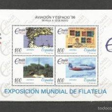 Sellos: ESPAÑA AVIACION Y ESPACIO´96 HOJITA EDIFIL NUM. 3433 ** NUEVA SIN FIJASELLOS. Lote 222636927