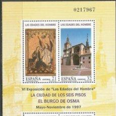 Sellos: ESPAÑA LAS EDADES DEL HOMBRE HOJITA EDIFIL NUM. 3494 ** NUEVA SIN FIJASELLOS. Lote 222636651