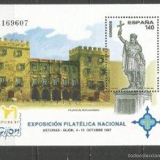 Sellos: ESPAÑA EXFILNA´97 HOJITA EDIFIL NUM. 3512 ** NUEVA SIN FIJASELLOS. Lote 222636685