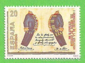 EDIFIL 2998. I CENTENARIO DE LA CREACIÓN DEL CUERPO DE CORREOS. - UNIFORMES . - ** 1989. (Sellos - España - Juan Carlos I - Desde 1.986 a 1.999 - Nuevos)