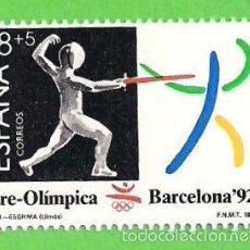 Sellos: EDIFIL 3025. BARCELONA'92. III SERIE PRE-OLÍMPICA - ESGRIMA. (1989).** NUEVO SIN FIJASELLOS. Lote 57234655
