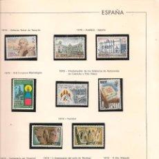 Sellos: FILATELIA. HOJA MONTADA CON 11 SELLOS NUEVOS. DEFENSA NAVAL DE TENERIFE Y OTROS. (Z30). Lote 57260908