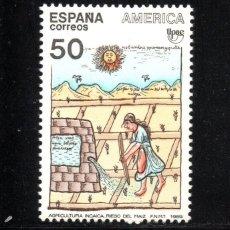 Sellos: ESPAÑA 3035** - AÑO 1989 - AMERICA - UPAEP - PUEBLOS PRECOLOMBINOS. Lote 57448443