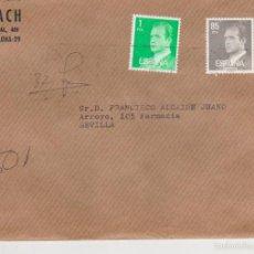 Sellos: CARTA CON MEMBRE DE BARCELONA A SEVILLA FRANQUEADO CON EDIFIL 2390 Y 2604.. Lote 57562089