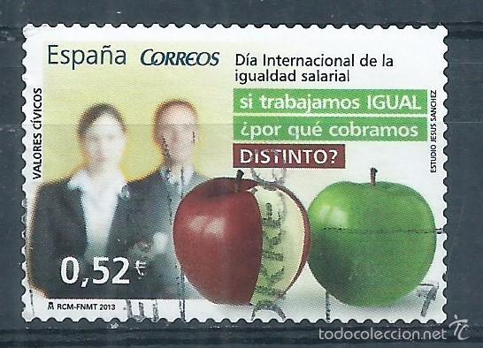 R7/ ESPAÑA USADOS 2013, EDF. 4776, VALORES CIVICOS (Sellos - España - Juan Carlos I - Desde 2.000 - Usados)