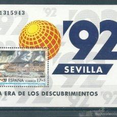 Sellos: HOJITA BLOQUE Nº 3191 (EDIFIL). AÑO 1992. EXPO 92.. Lote 109342480
