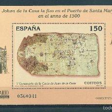 Sellos: HOJITA BLOQUE Nº 3722 (EDIFIL). AÑO 2000. V CENTENARIO DE LA CARTA DE JUAN DE LA COSA.. Lote 68738682