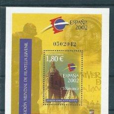 Sellos: HOJITA BLOQUE Nº 3878 (EDIFIL). AÑO 2002. EXPOSICIÓN MUNDIAL DE FILATELIA JUVENIL.. Lote 57735386