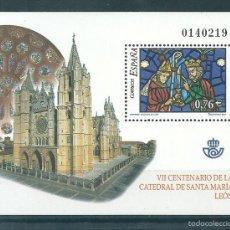 Sellos - Hoja bloque nº 4020 (Edifil). Año 2003. Vidrieras Catedral Santa Maria de Leon. - 57735715