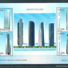 Sellos: HOJA BLOQUE Nº 4507 (EDIFIL). AÑO 2009. ARQUITECTURA.. Lote 98880283