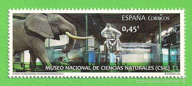 EDIFIL 5034. MUSEOS - MUSEO NACIONAL DE CIENCIAS NATURALES, MADRID. (2016).** NUEVO Y SIN FIJASELLOS (Sellos - España - Juan Carlos I - Desde 2.000 - Nuevos)