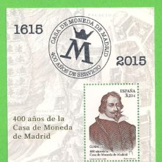 Sellos: EDIFIL 4975 HB. 400 AÑOS DE LA CASA DE LA MONEDA DE MADRID - DUQUE DE UCEDA. (2015).** NUEVO.. Lote 57771698