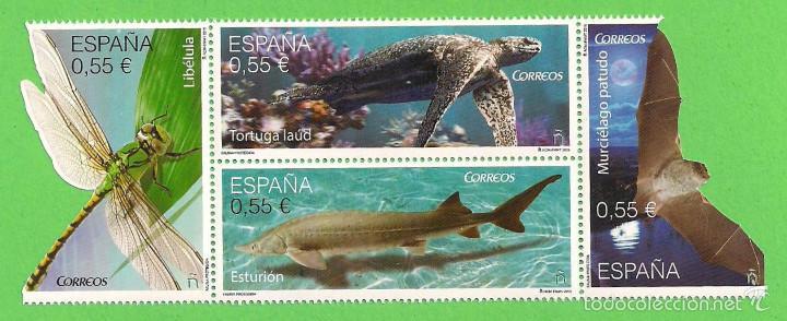 EDIFIL 4982-4983-4984-4985. FAUNA PROTEGIDA. (2015).** NUEVO SIN FIJASELLOS - SERIE COMPLETA. (Sellos - España - Juan Carlos I - Desde 2.000 - Nuevos)