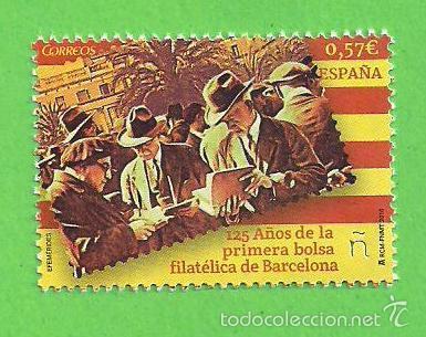 EDIFIL 5050. 125 AÑOS DE LA BOLSA FILATÉLICA DE BARCELONA. (2016).** NUEVO Y SIN FIJASELLOS. (Sellos - España - Juan Carlos I - Desde 2.000 - Nuevos)