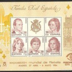 Sellos: LOTE 5 HOJAS EDIFIL HB 2754. EXPOSICIÓN MUNDIAL DE FILATELIA. FAMILIA REAL ESPAÑOLA 1984. Lote 57848287