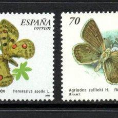 Sellos: ESPAÑA 3694/95** - AÑO 2000 - FAUNA - MARIPOSAS . Lote 112843543