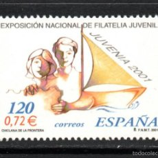 Sellos: ESPAÑA 3781** - AÑO 2001 - EXPOSICION FILATELICA NACIONAL JUVENIL JUVENIA 2001 . Lote 112843654