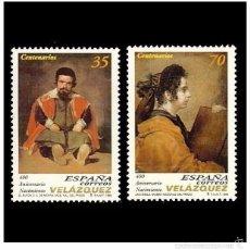 Sellos: ESPAÑA SPAIN 1999 - EDIFIL 3658/59 400 ANIV. NACIEMIENTO DE DIEGO VELÁZQUEZ STAMP SET MNH. Lote 58229717