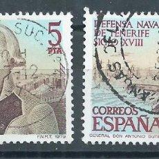 Sellos: R7/ ESPAÑA USADOS X2, 1979, EDF.2516, DEFENSA NAVAL DE TENERIFE. SIGLO XVIII. Lote 58466230