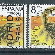 Sellos: R7/ ESPAÑA USADOS X2, 1979, EDF.2533, FAUNA. INVERTEBRADOS. Lote 58466257