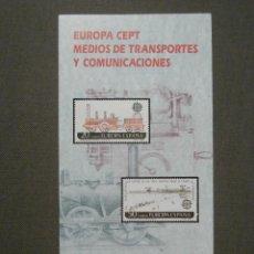 Selos: FOLLETO INFORMATIVO Nº 10/88 - EMISIÓN SELLO CORREOS - EDIFIL 2949, 2950 - SELLOS - DÍPTICO. Lote 58658670