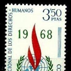 Sellos: ESPAÑA 1968- EDI 1874 (SERIE-DERECHOS HUMANOS) NUEVA***. Lote 58662092