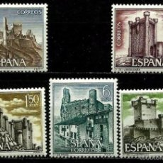 Sellos: ESPAÑA 1968- EDI 1880/84 (SERIE-CASTILLOS) NUEVA***. Lote 58662334