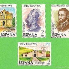 Sellos: EDIFIL 2371-2372-2373-2374. HISPANIDAD. COSTA RICA. (1976). - SERIE COMPLETA.. Lote 58685202