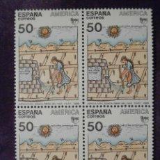 Sellos: SELLO - PUEBLOS PRECOLOMBINOS - BLOQUE DE 4 - EDIFIL 3035 - 1989. Lote 58716545