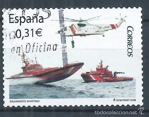 R7/ ESPAÑA USADOS 2008, EDF. 4399, SALVAMENTO MARITIMO (Sellos - España - Juan Carlos I - Desde 2.000 - Usados)