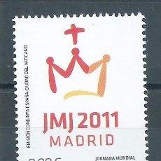 Sellos: R7/ ESPAÑA EN NUEVO** 2011, EDF. 4656, JORNADA MUNDIAL DE LA JUVENTUD. MADRID 2011. Lote 59002550