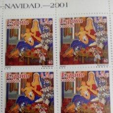 Sellos: ESPAÑA EDIFIL 3835 . NAVIDAD. AÑO 2001. BLOQUE 2X2 NUEVOS. Lote 210261678