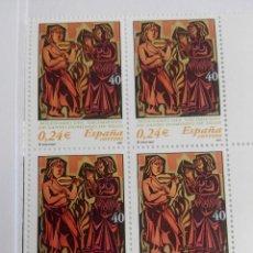 Francobolli: ESPAÑA EDIFIL 3817.SILOS. AÑO 2001. BLOQUE 2X2 NUEVOS. Lote 225578998