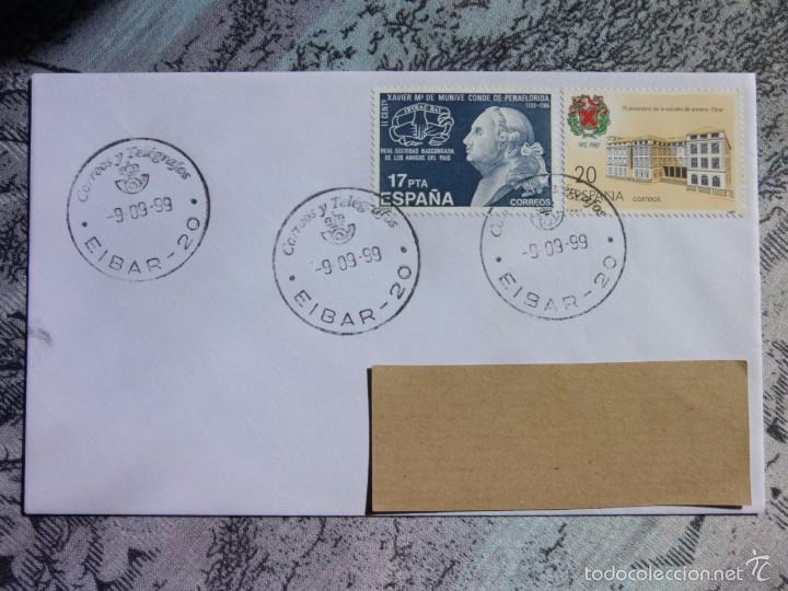 MARCOFILIA - EIBAR - ESCUELA ARMERIA - CONDE DE PEÑAFLORIDA - EDIFIL 2907 - EDIFIL 2824. (Sellos - España - Juan Carlos I - Desde 2.000 - Cartas)