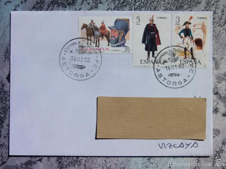 MARCOFILIA - ASTORGA - UNIFORMES (Sellos - España - Juan Carlos I - Desde 2.000 - Cartas)