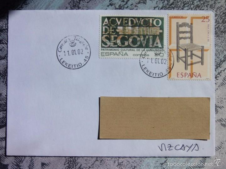 MARCOFILIA - LEKEITIO - LEQUEITIO - ACUEDUSTO SEGOVIA (Sellos - España - Juan Carlos I - Desde 2.000 - Cartas)