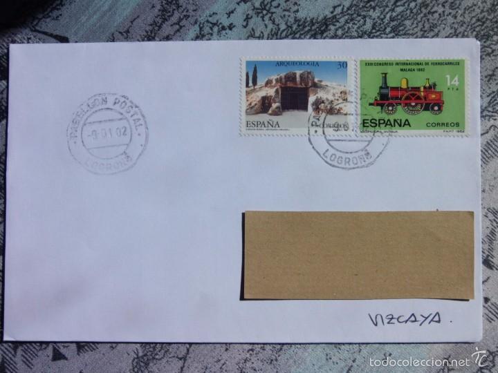MARCOFILIA - LOGROÑO - PABELLON POSTAL -TREN (Sellos - España - Juan Carlos I - Desde 2.000 - Cartas)