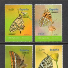Sellos: ESPAÑA 4622/25** - AÑO 2011 - FAUNA - MARIPOSAS . Lote 112845159