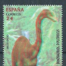 Sellos: R10.G5/ ESPAÑA EN NUEVO** DINOSAURIOS, DIPLODOCUS. Lote 60151263