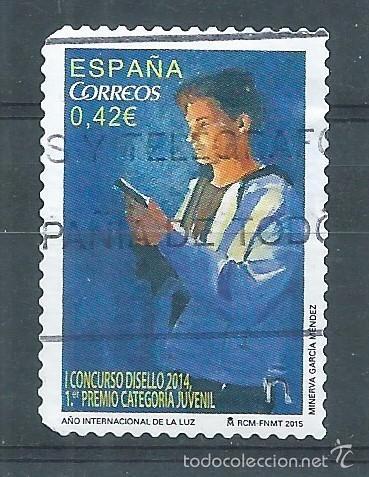 R10/ ESPAÑA USADOS 2015, EDF. 4940, DISELLO (Sellos - España - Juan Carlos I - Desde 2.000 - Usados)